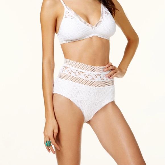 acbe794e0eff5 Becca Captured high waisted crochet bikini bottom.  M_5c2548e55098a05e6942256b